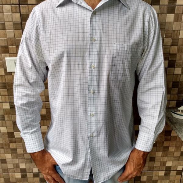 Camisa van heusen branca quadriculada