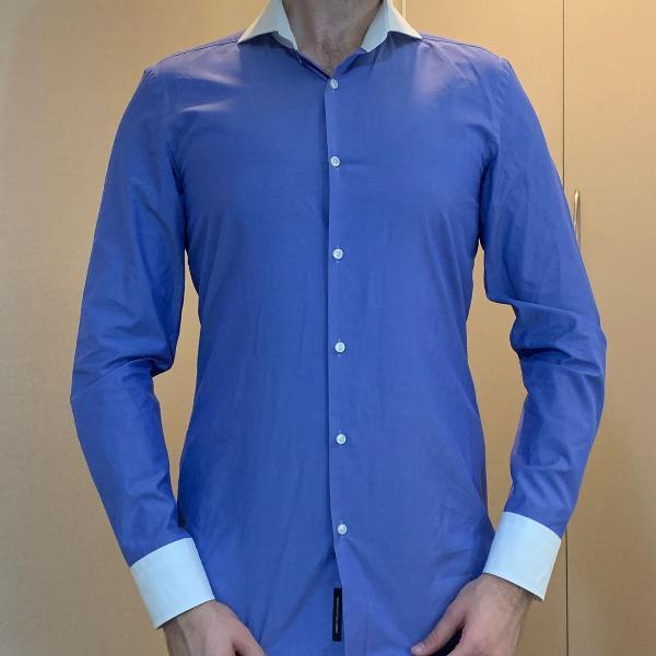 Camiseta hugo boss masculino azul tamanho p