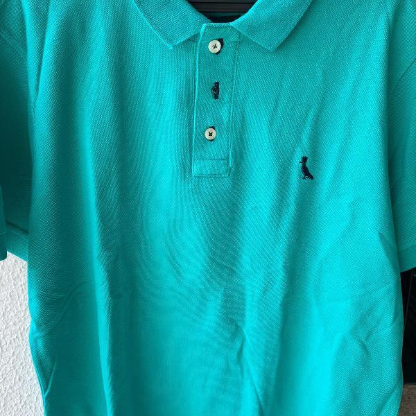 Camiseta polo verde água reserva