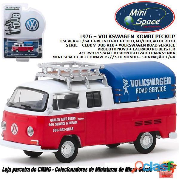Greenlight 1976 volkswagen kombi pickup cabine dupla 1/64