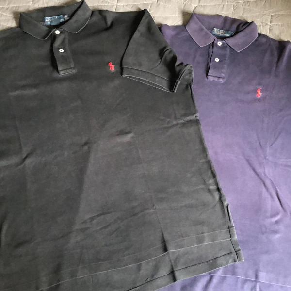 Kit duas camisetas polo ralph lauren masculina l/g