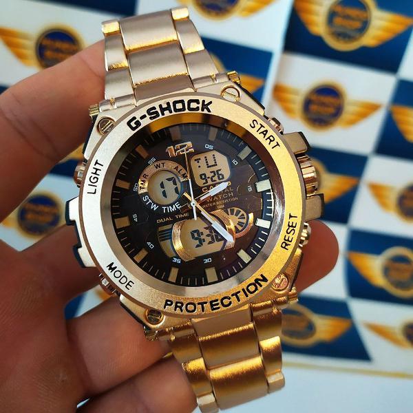 Relógio g shock metal dourado