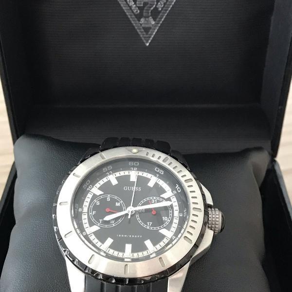 Relógio guess modelo u13531g1 mergulho