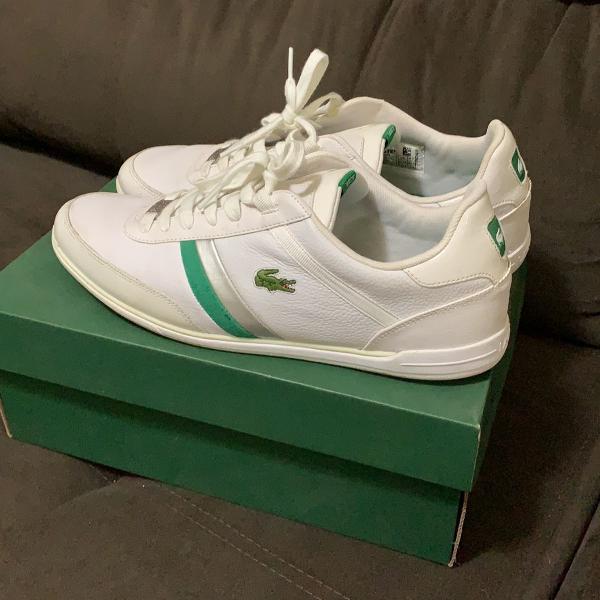 Sapatenis lacoste 41 branco e verde