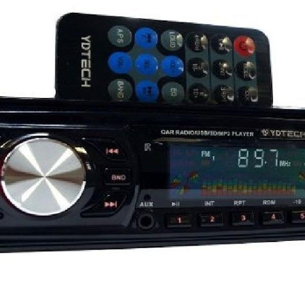Toca rádio pra carro pendrive usb frontal mp3 sdcard