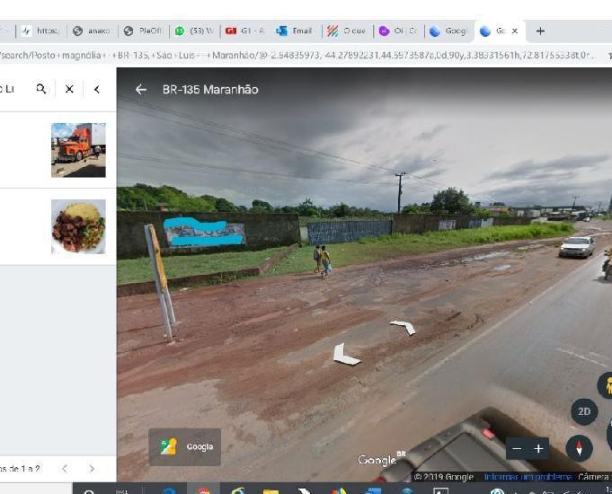Alugo terreno na beira da br 135, no km 09, bairro maracanã