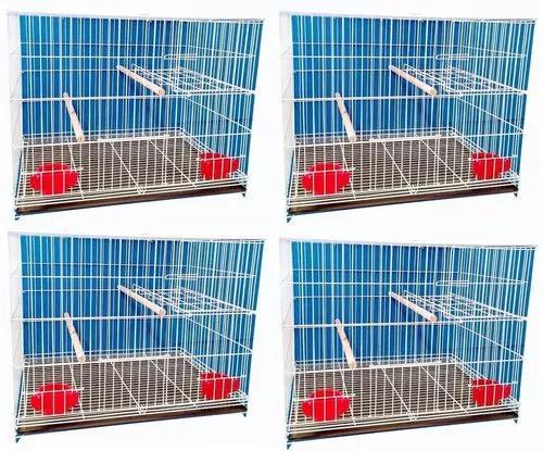 Conjunto criadeira calopsita 4 gaiolas suporte ninho