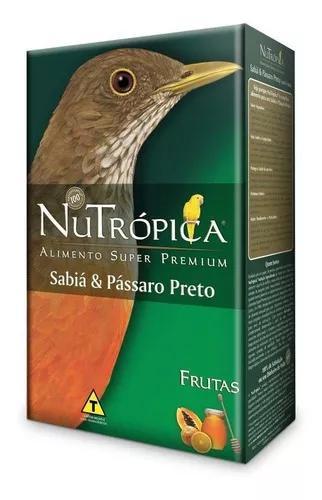 Ração nutrópica para sabiá e pássaro preto 300g