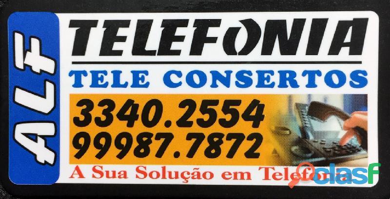 Consertos de rede telefonica interna