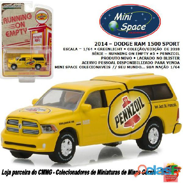 Greenlight 2014 dodge ram 1500 pickup sport pennzoil 1/64