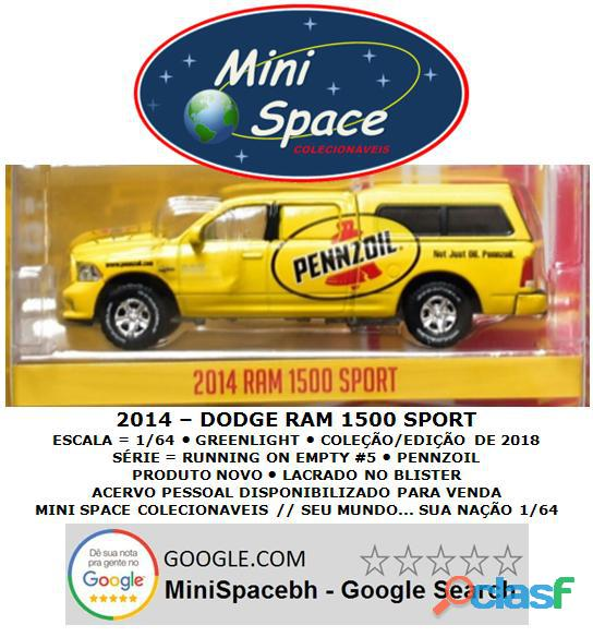 Greenlight 2014 Dodge RAM 1500 Pickup Sport Pennzoil 1/64 2