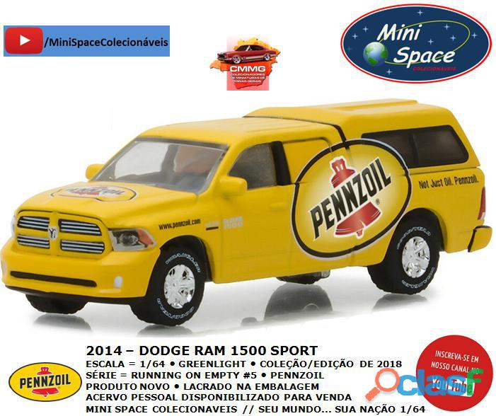 Greenlight 2014 Dodge RAM 1500 Pickup Sport Pennzoil 1/64 3