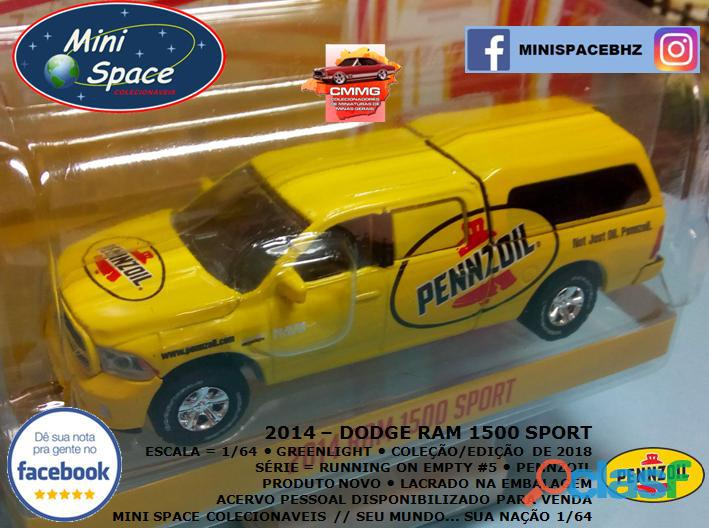 Greenlight 2014 Dodge RAM 1500 Pickup Sport Pennzoil 1/64 4