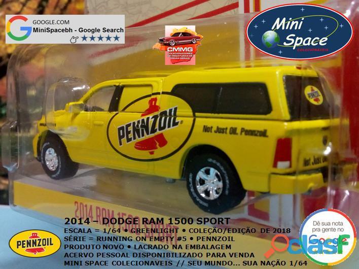 Greenlight 2014 Dodge RAM 1500 Pickup Sport Pennzoil 1/64 5