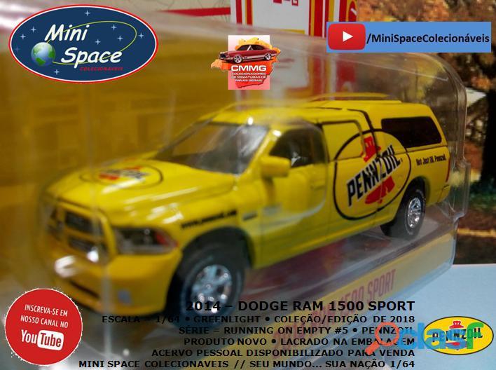 Greenlight 2014 Dodge RAM 1500 Pickup Sport Pennzoil 1/64 6