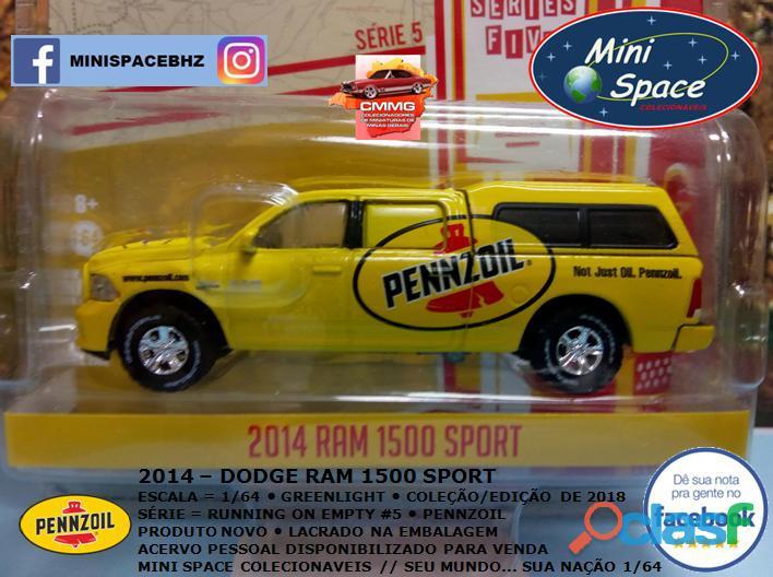 Greenlight 2014 Dodge RAM 1500 Pickup Sport Pennzoil 1/64 7