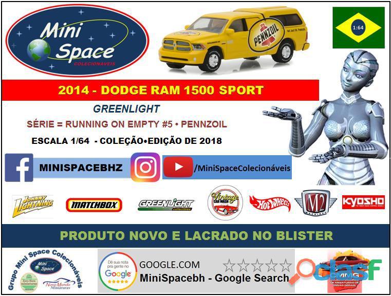 Greenlight 2014 Dodge RAM 1500 Pickup Sport Pennzoil 1/64 8