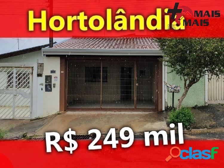 Casa 2 dorm 110 mt²-hortolandia-aceita financiamento