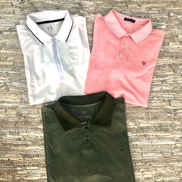 3 camisetas masculinas