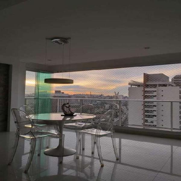 Brooklin- 138 m² - 3 dorms- 2 vagas- Andar alto - Vista