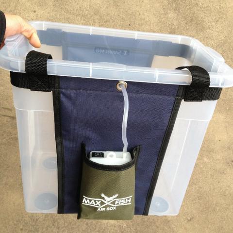 Caixa transporte isca viva viveiro portatil com oxigenador