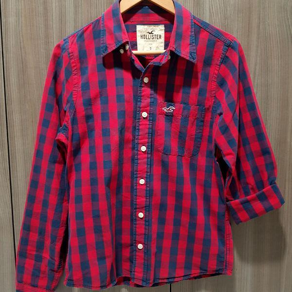Camisa xadrez masculina hollister original
