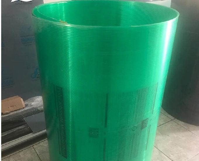 Chapa de Policarbonato Alveolar Verde 1,05 x 6,00 x 4mm