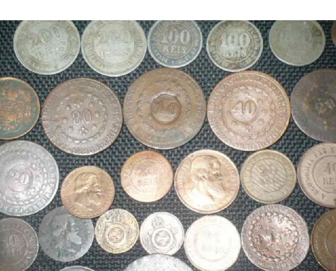 Vendo + de 100 moedas antigas de 1901 para trás r$1100 tudo