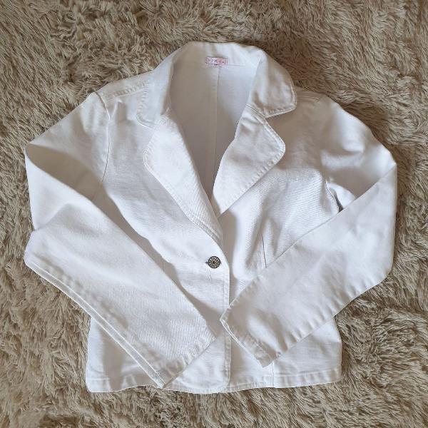Blazer branco jeans