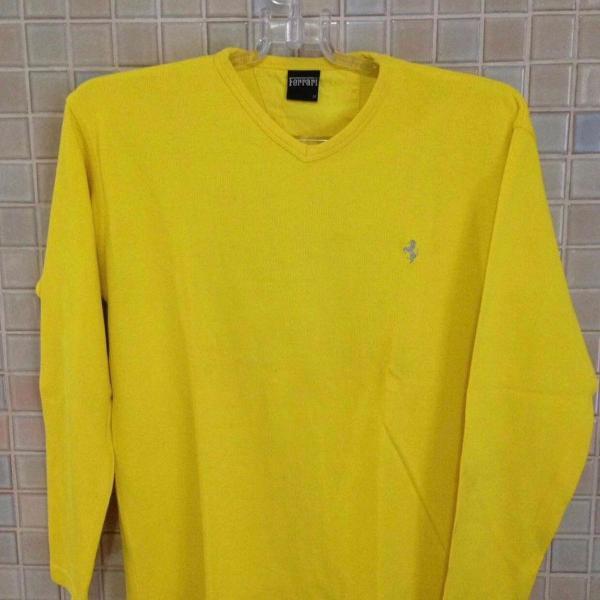Blusa ferrari amarela masculina - original - importada