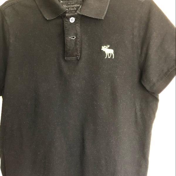 Camisa polo abercrombie masculina preta