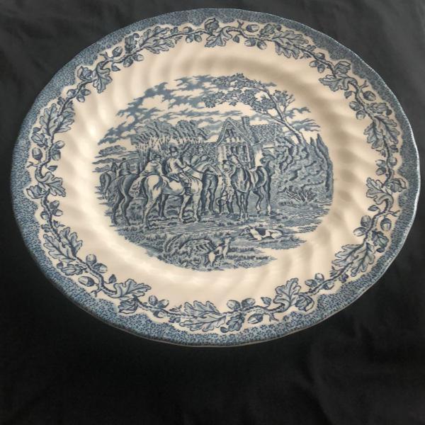 Jogo de pratos de jantar raso de porcelana inglesa