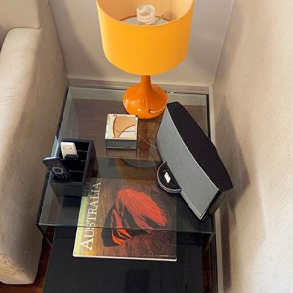 Mesa lateral de sofá tok stok - 2 peças sobrepostas