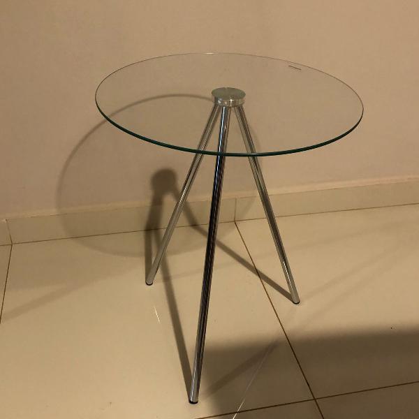 Mesa lateral tampo de vidro