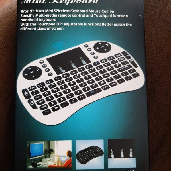 Mini teclado wireless tv box tv samsung lg