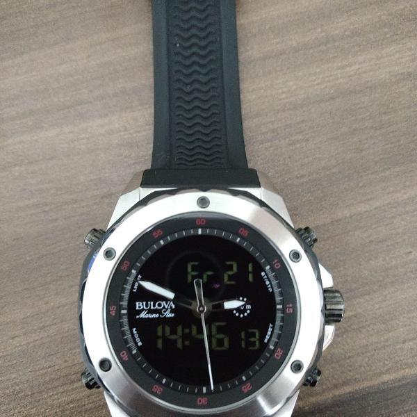 Relógio bulova marine star wb10028t / 98c119
