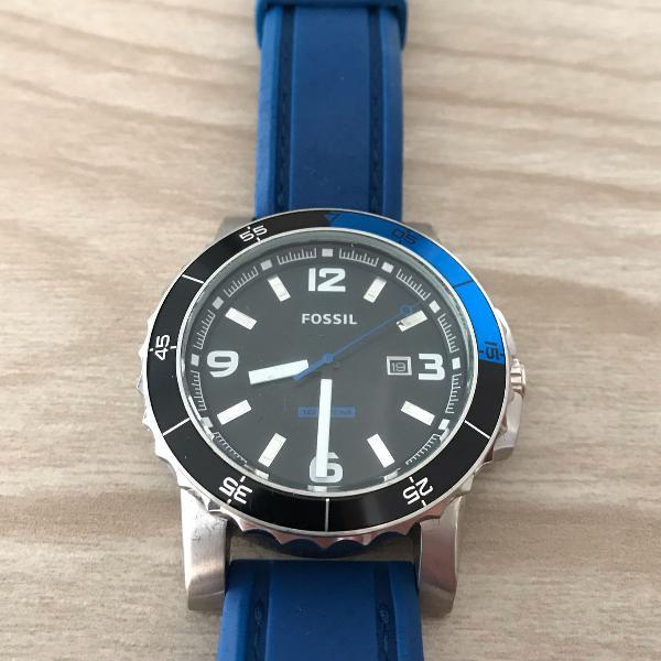 Relógio fossil sport azul am-4258