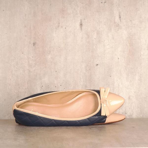 Sapatilha azul com detalhe bege lga shoes