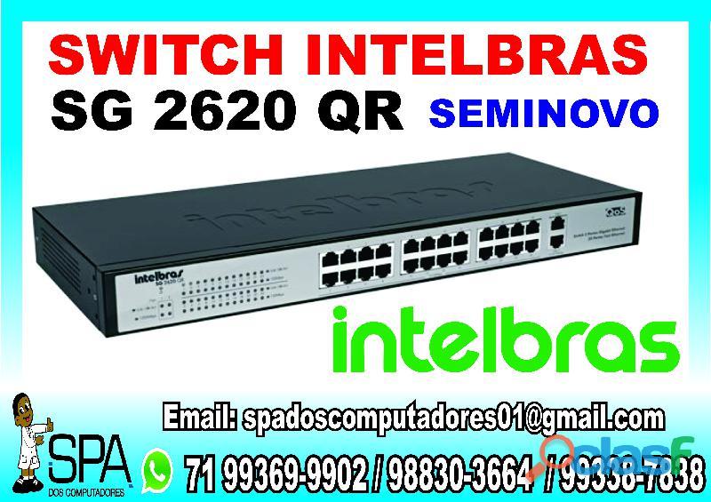 Switch Intelbras SG 2620 QR de 24 portas Seminovo em Salvador BA