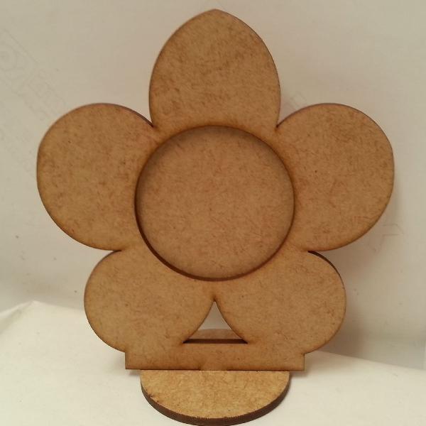 10 florzinhas porta retrato mdf cru 10 cm