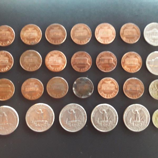 27 moedas antigas estrangeiras