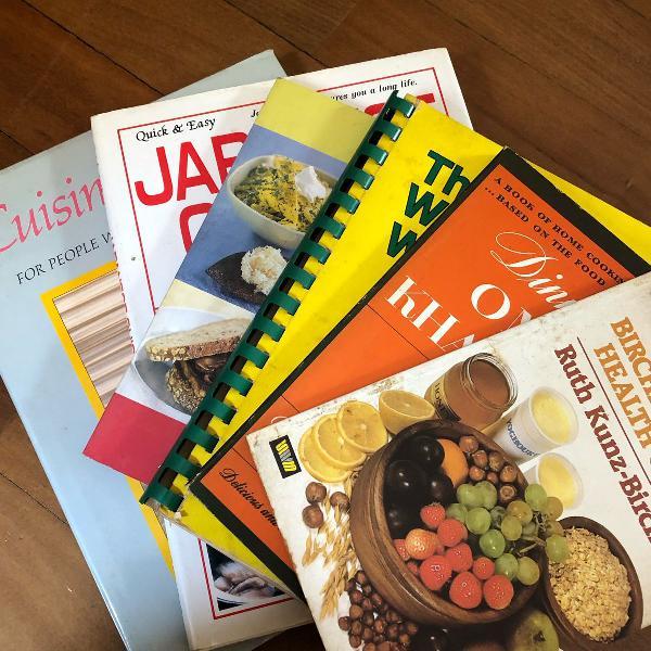 6 livros de culinaria - em inglês