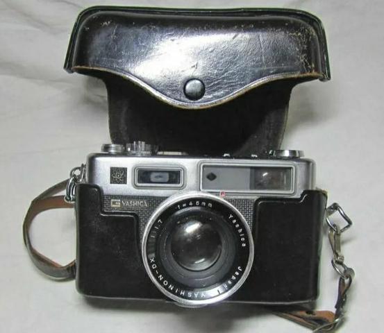 Antiga câmera fotográfica yashica electra 35 gsn