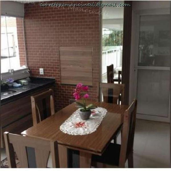 Apartamento no mooca 89m² 2 dorm. 2 vagas terraço gourmet