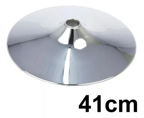 Base Disco Cromada 41cm Para Banquetas, Cadeiras, Poltronas