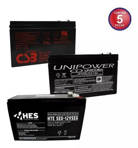 Bateria 12v 7a selad para nobreak alarmes cerca elétrica
