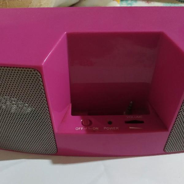 Caixinha de som para celular, ipod ou tablet