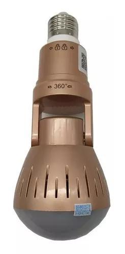 Camera e lampada espia paronamica 360g visao noturna
