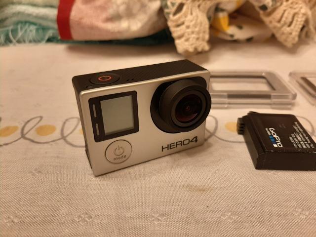 Camera gopro hero 4 silver c/ lcd, controle e acessórios