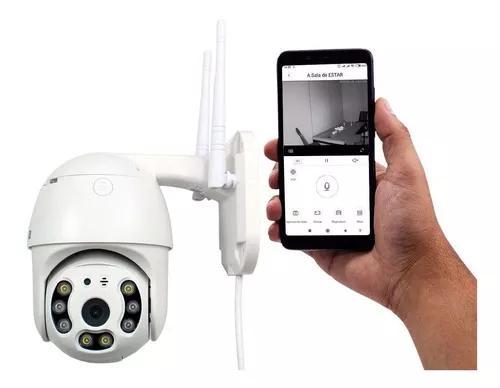 Camera ip dome wifi ptz resistente a água externa (hd 360)
